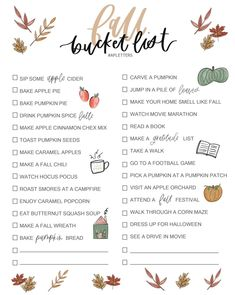 Friday Favorites Starts With the Cutest Free Fall Bucket List Printable This week I'm sharing where you can find this super cute Fall Bucket List Printable (FREE), my favorite drugstore beauty products and more! Herbst Bucket List, Fun Fall Activities, Couple Activities, Happy Fall, Happy October, September, Fall Drinks, Fall Family, Family Night