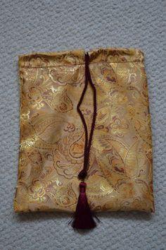 Paisley Design Brocade Drawstring Bag Tie Bag by Iwillholdthatbags