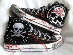Custom handmade Rock & Roll and Horror Movie Clothing. Rocker, Heavy Metal and Punk Rock fashion. Whether you are hittin the stage, a horror fan, or just want to rock some unique custom clothing, let Chad Cherry Clothing create something special for you. Mens Fashion Shoes, Punk Fashion, Grunge Fashion, Diy Fashion, Fashion Hats, Lolita Fashion, Fashion Dresses, Punk Outfits, Gothic Outfits