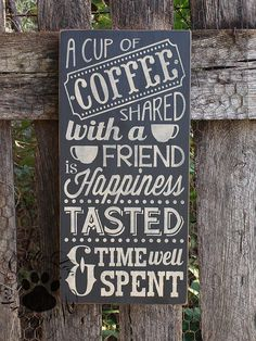 "Coffee With A Friend, Chalkboard Art, Word Art,Typography Pine Wall Sign.""A cup of coffee shared with a friend is happiness tasted and time blessed"" I Love Coffee, Coffee Art, My Coffee, Coffee Shop, Pine Walls, Chalkboard Art, Chalkboard Drawings, Coffee Signs, Coffee Quotes"