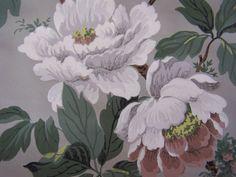 Vintage Wallpaper c1940s White Terracotta Magnolia on by FSBstudio, $6.99