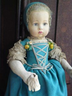 Very rare Maria Teresa Lenci doll model 252 from 1926 Lenci catalogue
