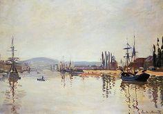 Claude Monet - The Seine Below Rouen