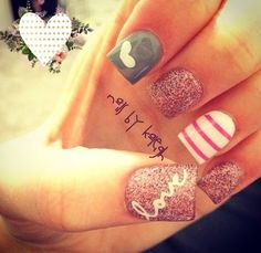 White | Love Letter Nail Decal | Valentines Nails | Valentines Nail Art | Love Nail Art | Heart Nails