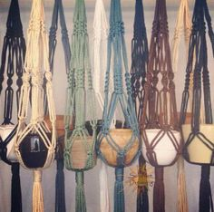 Macramé Hangers in natural colours by Sunshine Dreaming