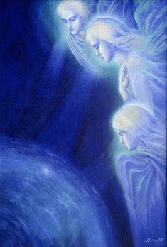 Blue Angels - angel art - Лариса Химич. Рождество