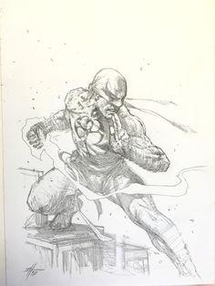 """Gabriele Dell'otto — """"Iron Fist sketch"""""""