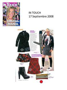 #Colaboraciones en la #Revista In Touch. Septiembre 2008.