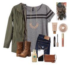 Day 2: Cookout by raquate1232 on Polyvore featuring H&M, Hollister Co., Timberland, FOSSIL, Kendra Scott, Casetify, Benefit, tarte, L'Oréal Paris and emilysfallcontest