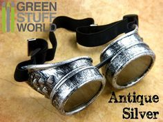 SteamPunk GOGGLES in ANTIQUE SILVER color with adaptable