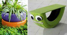 DADA IDEA: 15 idei pentru refolosirea unei anvelope Outdoor Furniture, Outdoor Decor, Recycling, Interior Design, Landscaping, Diy, Home Decor, Nest Design, Decoration Home