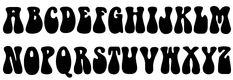 1960s Hippie Font UPPERCASE