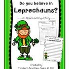 My class always enjoys talking about Leprechauns! Right around this time of year, it seems that students begin seeing signs of them everywhere! And...
