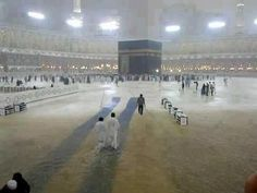 Rain in Masjid ul Haram (Makkah) on Hadith, Medina Mosque, Saints, Masjid Al Haram, Mekkah, Islamic Videos, Islamic World, Islamic Pictures, Place Of Worship