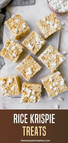 Extra marshmallows, sea salt, and a super-thick bar make for the BEST Rice Krispie Treats. You will love these easy, no-bake treats, they are always a crowd pleaser! Cereal Treats, No Bake Treats, Rice Krispie Treats, Rice Krispies, Fun Easy Recipes, Healthy Dessert Recipes, Sweet Recipes, Cookie Recipes, Bar Recipes