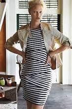 striped column dress
