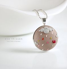 Hurrying Back Home. Whimsical hand made polymer clay necklace. Made to order by Eva Thissen Gallery, via Flickr