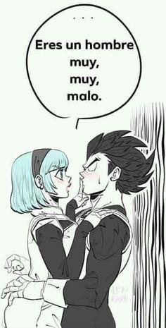 vegeta x bulma Diabolik, Dragon Ball Z, Manga Anime, Anime Art, Manga Art, Couple Cartoon, Neon Genesis Evangelion, Fantasy, Cute Love