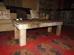 Antique style table from barn wood and square nails. Tom Spivak