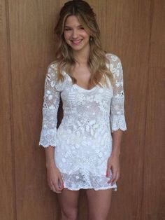 Los detalles del divino vestido de novia Marcela Kloosterboer | Fashion TV Fashion Tv, Office Fashion Women, Curvy Women Fashion, White Fashion, Love Fashion, Womens Fashion, Boho Wedding Dress, Wedding Dresses, Informal Weddings
