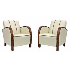 Pair of Swedish Art Deco chairs
