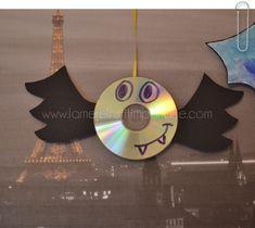 chauve souris avec un cd activité halloween