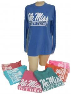 Comfort Color Ls Ole Miss Hotty Toddy Campus Book Mart Ole Miss Girls Hotty Toddy Preppy Tee