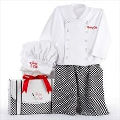 Unique Baby Chef outfit -great for pictures!     Price: $15.00