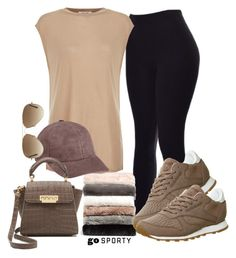 """""""#sportystyle"""" by ana-anny-blagojevic ❤ liked on Polyvore featuring Nordstrom, Helmut Lang, Vianel, Reebok, ZAC Zac Posen, Ray-Ban and sportystyle"""