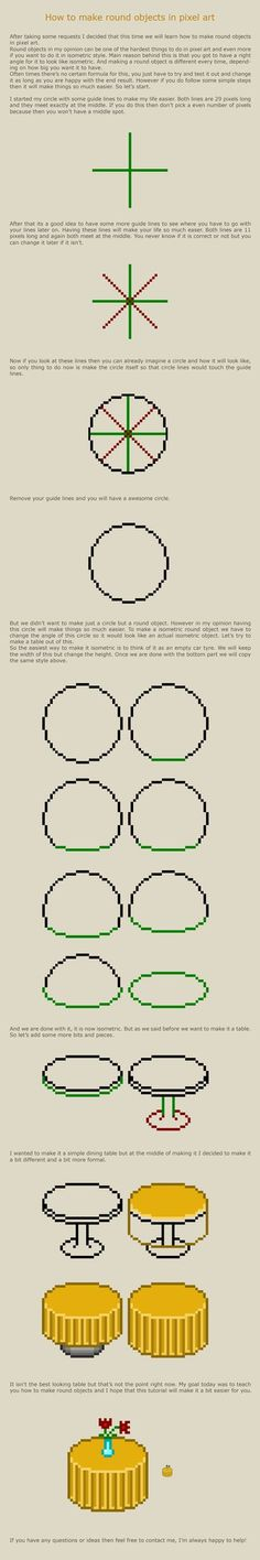 How to make round objects in pixel art by vanmall