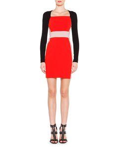 Emilio Pucci Long-Sleeve Colorblock Dress