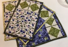Sewed these placemats DEC 2017 out of fat quarters.