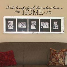 Vinyl Wall Decal  Its the love of a family by OldBarnRescueCompany, $29.95