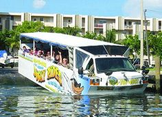 Fort Lauderdale 'The Venice of America'  - Duck Tours.  Amphibious craft tours to see all the sights of the city and on the water to take a peek at mega yachts and luxury mansions.  #travel #sightseeing