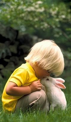 ~ child with bunny ~