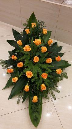 funeral flowers H S Altar Flowers, Church Flowers, Funeral Flowers, Contemporary Flower Arrangements, Funeral Sprays, Funeral Flower Arrangements, Flower Bouquet Wedding, Ikebana, Fresh Flowers