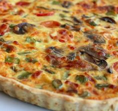 Quiche de Legumes - www. Vegetarian Pasta Recipes, Vegan Recipes, Snack Recipes, Cooking Recipes, Quiches, I Love Food, Good Food, Yummy Food, I Chef