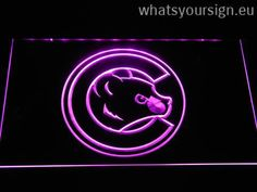 Chicago Cubs Cub Head - LED neon light sign made of the highest quality clear acrylic and bright colorful illumination. The neon sign displays exactly the same from all angles thanks to the carving with the newest 3D laser engraving technology. This LED neon sign is a great gift idea! The neon is provided with a metal chain for displaying. Available in 3 sizes in following colours: Purple, Blue, Red, Yellow, Orange, White and Green!