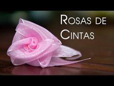 Rosas de Cintas Sorprendentes y Bellisimas Las Mas Faciles y Rapidas - YouTube