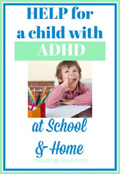 Use this help for a child with ADHD at school or home. These helpful strategies technology tools behavior contracts etc. will help a child succeed. Reading Help, Reading At Home, Natural Parenting, Good Parenting, Parenting Hacks, Adhd Kids, 4 Kids, Reluctant Readers, Special Kids