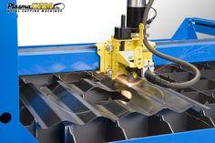 Cutting corrugated sheet metal. #roofmetal #plasmacut #metalcutting