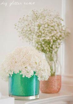 DIY glitter vases. | Mod Podge Rocks