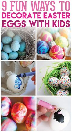 9 Fun & Easy Ways to Decorate Easter Eggs with Kids | Egg Decorating Ideas | Fun with Kids