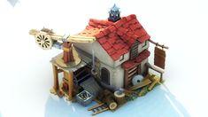 ArtStation - wood house, Sonu Singh