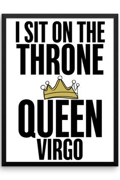 Virgo Queen Framed Poster
