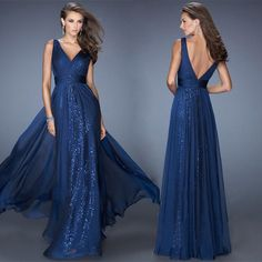 Long dress always make woman look more elegant,and v-neck and backless can make you sexier,you can choose one before you go to a dancing party or to weddings,this suit do add some feminine to you.