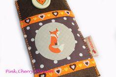 Zuckersüße Handytasche mit super süßem Fuchs Motiv!  ♥♥♥    Nach Eulen werden doch dieses Jahr Füchse die neuen Trendsetter :P Finde ich zumindest....