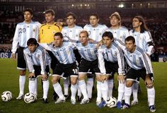 The national team of Argentina