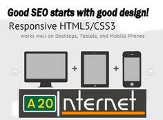 Responsive web design from www.a20internet.com