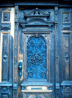 door, beautiful blue
